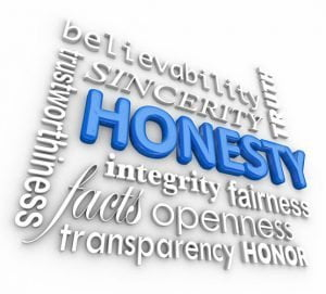 Honesty and integrity collage