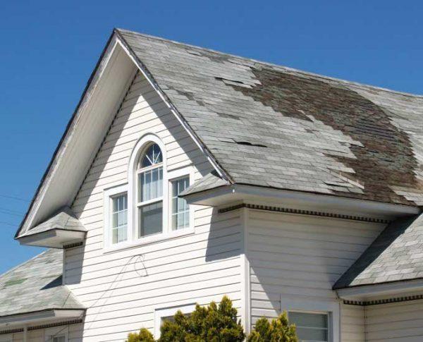damaged house roof