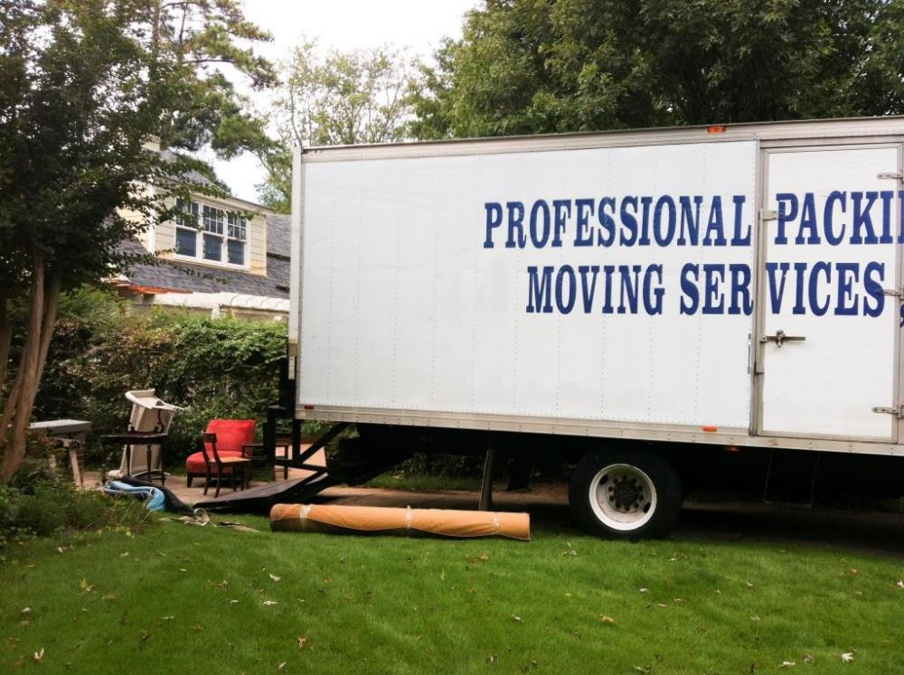 moving services truck