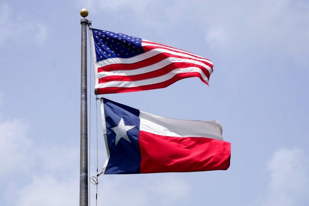 USA and Texas flag