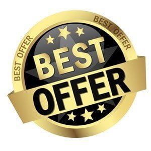 Gold Best Cash Offer Button