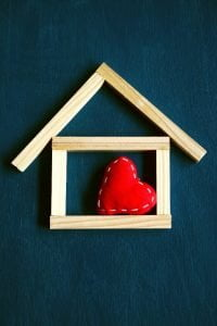 Cash for House with heart inside
