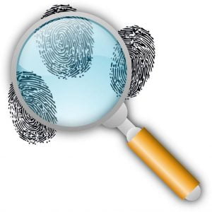 fingerprint and background checked image